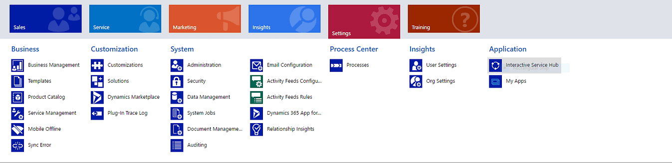 Interactive Services Hub Application